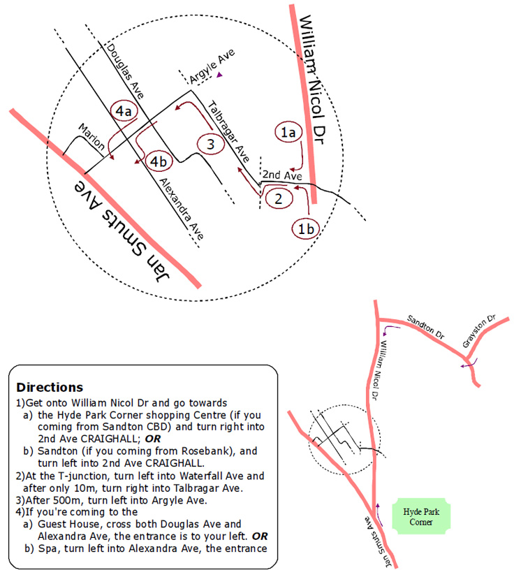 Craighall-directions